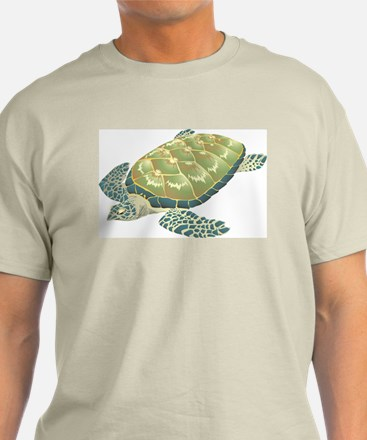 Hawksbill Turtle Ash Grey T-Shirt