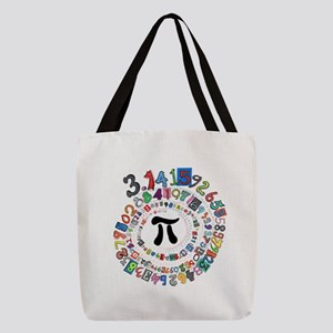 Pi sPiral Polyester Tote Bag
