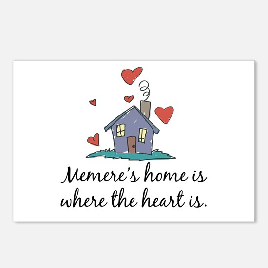 Memere's Home is Where the Heart Is Postcards (Pac