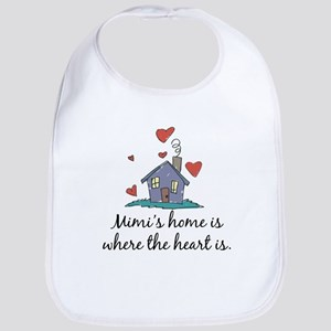 Mimi's Home is Where the Heart Is Bib
