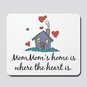Mom Mom's Home is Where the Heart Is Mousepad