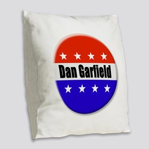 Dan Garfield Burlap Throw Pillow