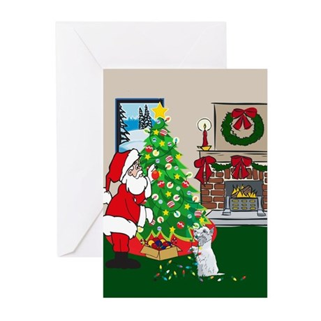 Deck The Halls Westie Greeting Cards (Pk of 10)