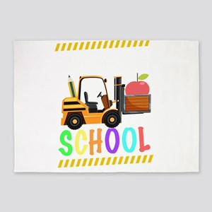 diggin school back to school cool k 5'x7'Area Rug