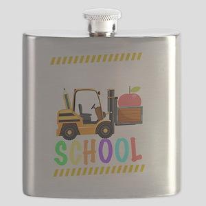 diggin school back to school cool kids shirt Flask