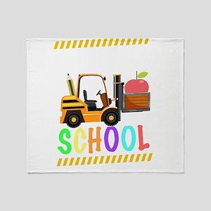 diggin school back to school cool ki Throw Blanket