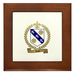 RIOU Family Crest Framed Tile
