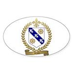 RIOU Family Crest Oval Sticker