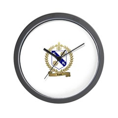 RIOU Family Crest Wall Clock