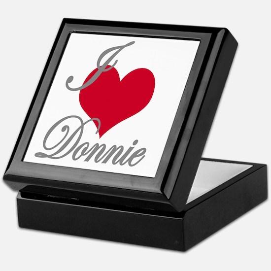 I love (heart) Donnie Keepsake Box