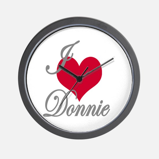 I love (heart) Donnie Wall Clock
