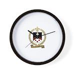 RIVARD Family Crest Wall Clock
