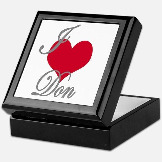 I love (heart) Don Keepsake Box