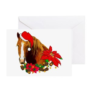 horse christmas greeting cards cafepress - Christmas Horse