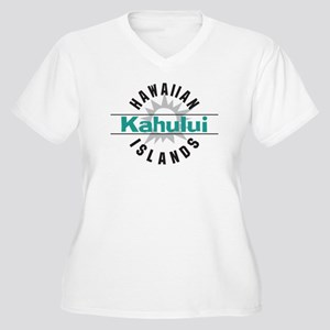 Kahului Maui Hawaii Women's Plus Size V-Neck T-Shi