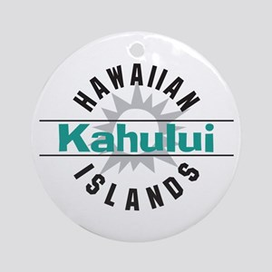 Kahului Maui Hawaii Ornament (Round)