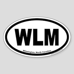 Wilmington North Carolina WLM Euro Oval Sticker