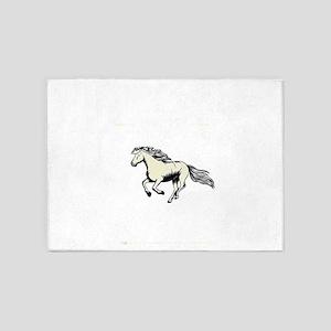 This Girl Dreams Horses Equestrian 5'x7'Area Rug
