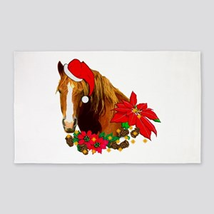 Christmas Horse Area Rug