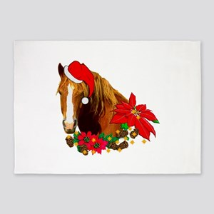 Christmas Horse 5'x7'Area Rug