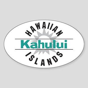 Kahului Maui Hawaii Oval Sticker