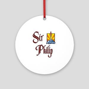 Sir Philip Ornament (Round)