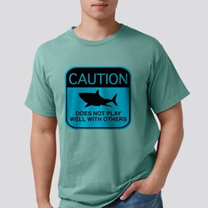 Caution - Does Not Play Well With Others White T-S