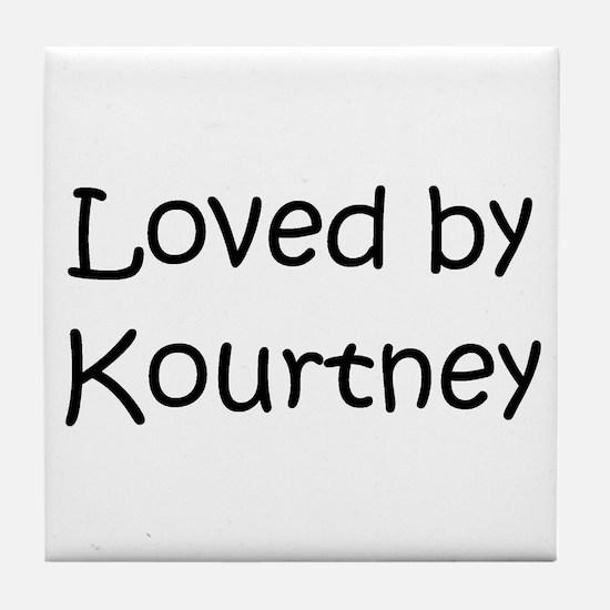 Cute Kourtney Tile Coaster