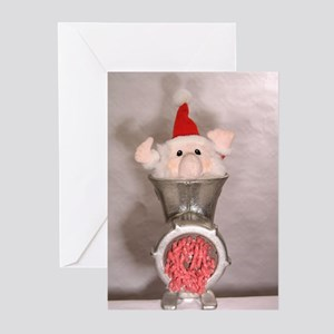 Processing Santa Greeting Cards (Pk of 10)