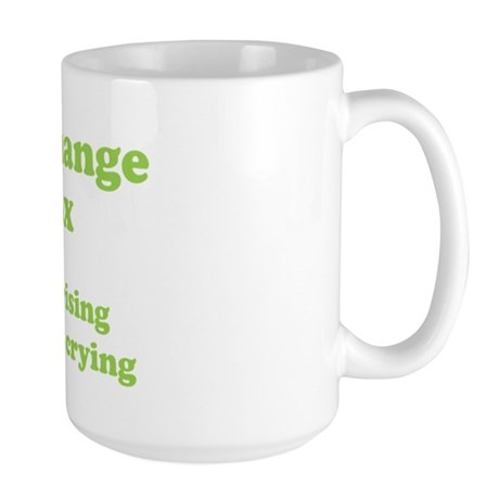Climate Change is a hoax GREEN Large Mug