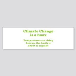 Climate Change is a hoax - EXPLOSION Sticker (Bump
