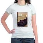 Mom's Hanukka Menorah Jr. Ringer T-Shirt