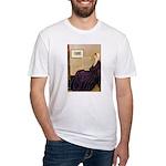 Mom's Hanukka Menorah Fitted T-Shirt