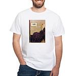 Mom's Hanukka Menorah White T-Shirt