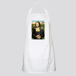 Mona Lisa's Menorah BBQ Apron