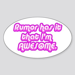 Awesome Rumor Oval Sticker