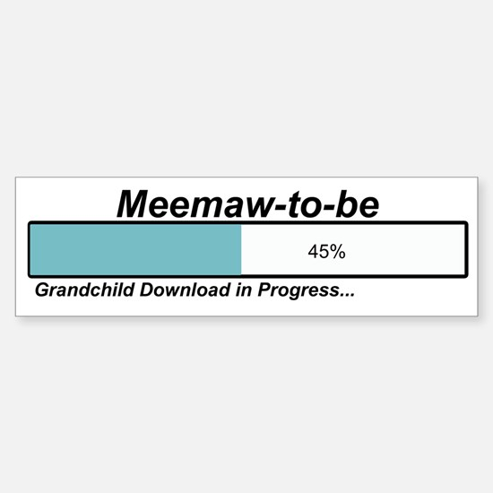 Download Meemaw to Be Bumper Car Car Sticker