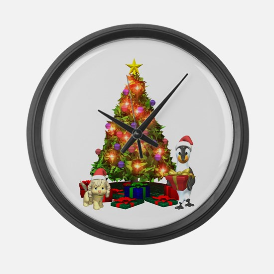 MERRY CHRISTMAS Large Wall Clock