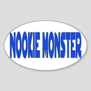 Nookie Monster Oval Sticker