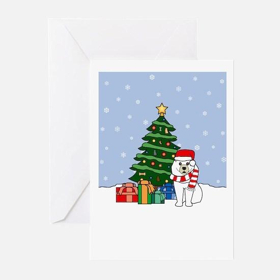 Samoyed Howling Holiday Greeting Cards (Pk of 10)