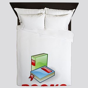 I Was Thinking About Books Reader Queen Duvet