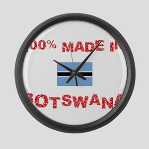 100 Percent Made In Botswana Large Wall Clock