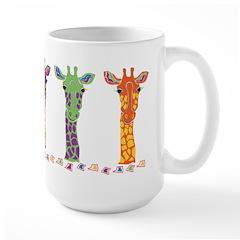 Large Giraffe Themed Mug