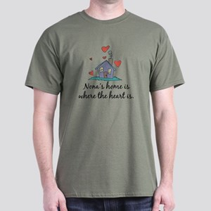 Nona's Home is Where the Heart Is Dark T-Shirt