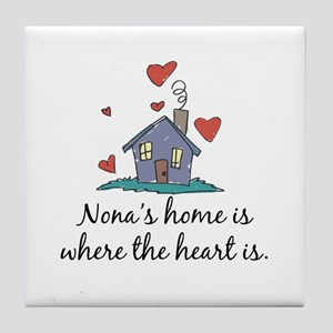 Nona's Home is Where the Heart Is Tile Coaster
