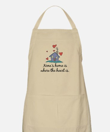 Nona's Home is Where the Heart Is BBQ Apron