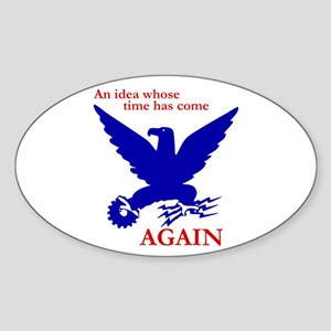 New Deal Eagle Oval Sticker