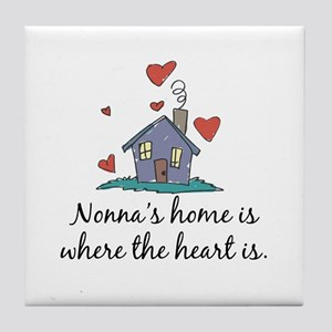 Nonna's Home is Where the Heart Is Tile Coaster
