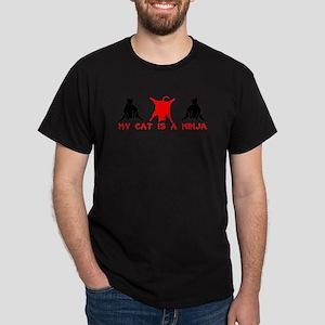 NINJA CAT T-SHIRT MY CAT IS A Dark T-Shirt