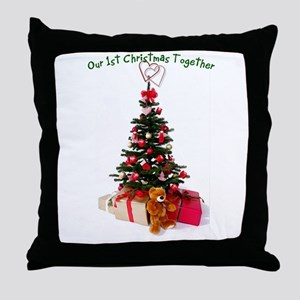 Our 1st Christmas Together Throw Pillow